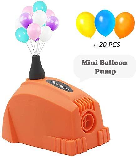 Tuomico Mini Ballonpumpe Tragbare 600W Ballon Inflator Elektrische Luftpumpe für Luftballons Luftgebläse für Party / Hochzeit / Business Celebration Decor (Orange) (Luftballon Elektrische Pumpe)