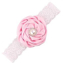 Malloom Beb rosa flor perla...
