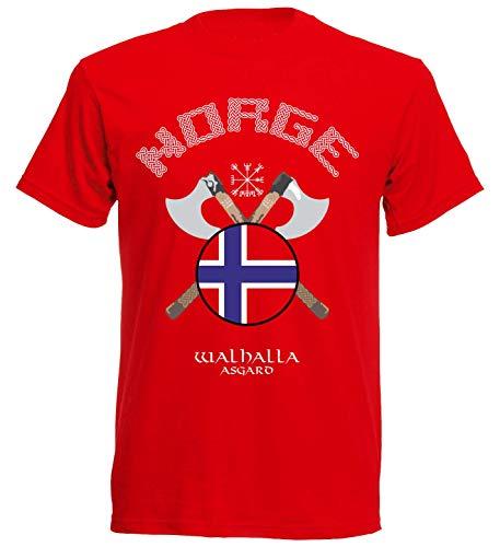 aprom T-Shirt Norwegen Rune Axt NC21 Norge (2XL) (Norwegen Fußball Trikot)