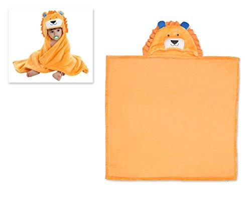 DSstyles Baby Handtuch Bademantel Tier Design Soft Blanket Empfangen Wrap Hooded Snuggle Umhang Polyester Micro-Polar Fleece für 0-2 Jahre Old Junge und Mädchen - Yellow Lion (Polyester Lions)