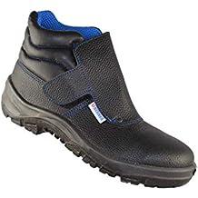 Berner 09815 S1P SRC Soldador Zapatos de Trabajo de Alto Negro B-Stock