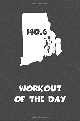 Workout of the Day: Rhode Island Workout of the Day Log for tracking and monitoring your training and progress towards your fitness goals. A great ... bikers  will love this way to track goals! por KwG Creates