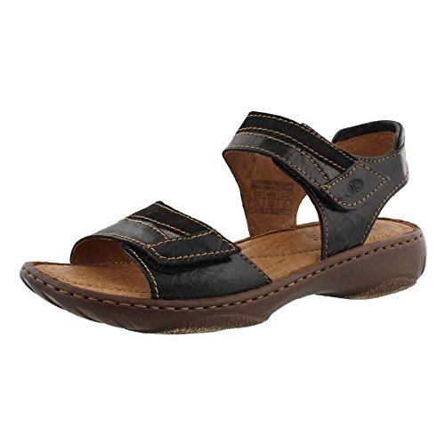 Josef Seibel Debra 19 - Schwarz/Multi 40 EU (Strap Ankle Multi Schuhe)