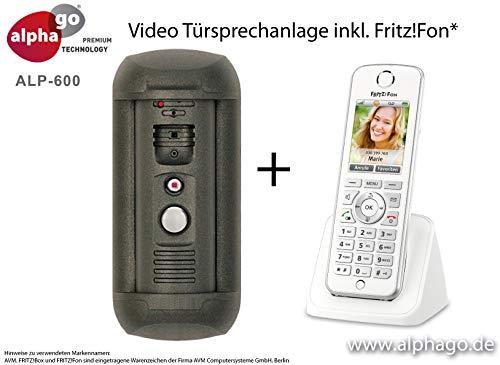 LAN IP Video Türsprechanlage ALP-600 inkl. Fritz!Fon C4 - Überwachungskamera - kein Cloud Server - Fritz!Fon C4/C5 kompatibel - Steuerung über PC/Smartphone/Tablet - FTP Anbindung