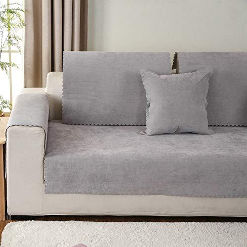 Huanzi sofa bambino copridivano 1 pezzo,3 posti per divano impermeabile grigio copridivano universale universale quattro stagioni lavabile,gray,1piece110*240cm