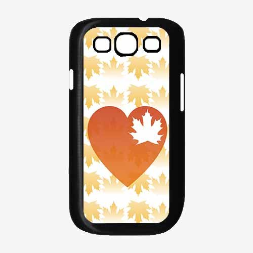 Heart Leaf with Fall Autumn leaves background