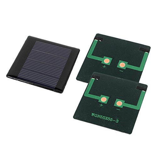 sourcing map 3stk. DIY Polykristallinesilizium Solar Kraftzelle Ladegerät 2V 0,3W 55mm x 55mm