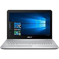 Asus N552VW-FY083T 39,62 cm (15,6 Zoll mattes FHD) Notebook (Intel Core i7 6700HQ, 8GB RAM, 1TB HDD, 256GB SSD, Nvidia GTX960M, Windows 10 Home) silber