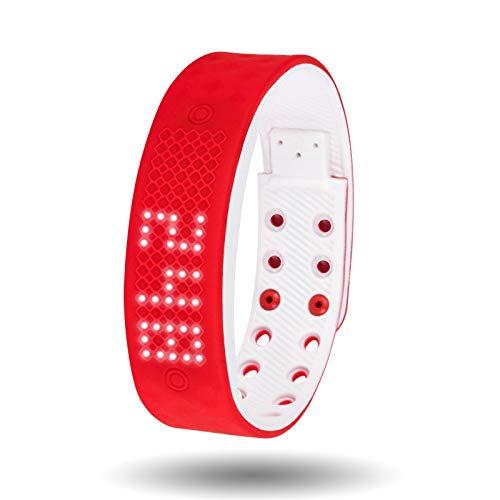 Orologi da uomo uomo digitale analogico impermeabile militare casual big face sport timer nero blu rosso orologio da polso in gomma data calendario orologi per uomo (color : red)