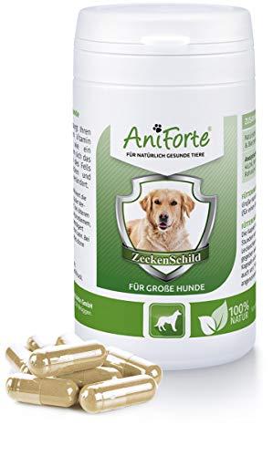 AniForte Zeckenschild für große Hunde 60 Kapseln - Natürlicher Zeckenschutz, Abwehr gegen Zecken und Parasiten, Anti-Zecken Schutz, Zeckenabwehr Naturprodukt, Hunde 35-50kg -