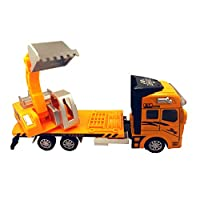 "KINDAFLY 3 in 1 Pull Back Heavy Excavator Dump Mixer Truck Machine Lorry Toys Vehicles 1:48 Metal 7.5"" Cool Toys for Kids Children Toddler Boy Gift"