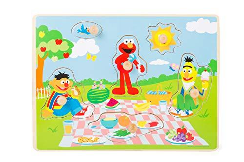 Small Foot- Rue Sesame Pique-Nique, 100% certifié FSC, Puzzle en Bois pour Enfants à partir de 1 an Jouets, 10978, Multicolore
