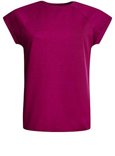oodji Ultra Damen T-Shirt Basic aus Baumwolle Violett (4C00N)