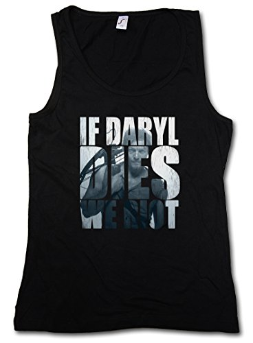 IF DARYL DIES WE RIOT DONNA TOP - Dixon Biters The Walking Walkers Zombie Dead DONNA TOP Taglie S - XL