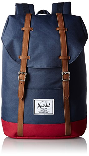 Herschel Supply Company SS16 Casual Daypack, 19.5 Liters, Navy/ Red/ Tan