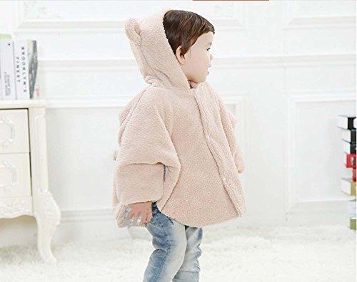 Baby-Bekleidung Baby-Mantel dicke Decken Bär Aprikose Farbe Umhang