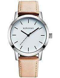 KINGSKY Corporate Watch Ladies Fashion Multi-color 20mm Leather Strap Japan Analog Quartz Dress Wrist Watches...