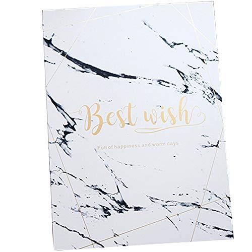 BlueSpace Hochzeits-Gästebuch Gedenktafel in Buchanwesenheitsliste Buch Beste Wünsche für Hochzeit Business Geburtstag Party Marble Pattern (Gedenktafel An Der Hochzeit)