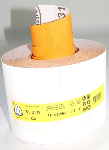 Klingspor 3227 Schleifrolle PL 31 B, 115X50000 mm, 1 Stk. Korn 180