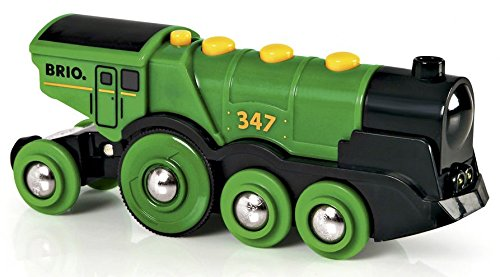 Brio - Gran locomotora verde a pilas con luz y sonido (33593)