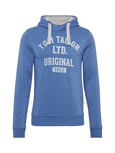 TOM TAILOR Herren Kapuzenpullover On Stock Sweater deep ultramarine blue