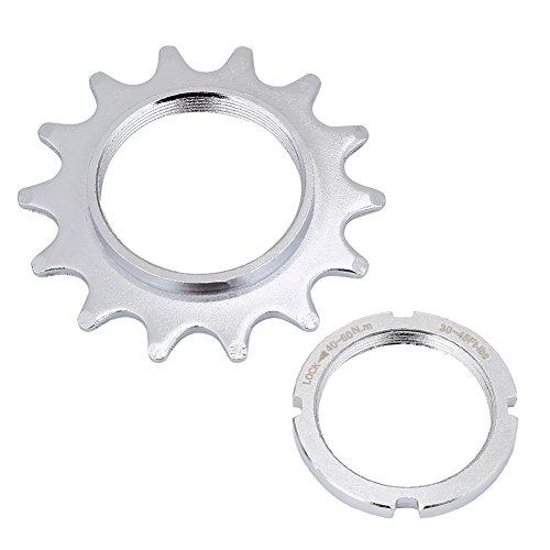 VGEBY1 Fahrradfreilauf, 13T, 14T, 15T, 16T Hochfester Stahl Single Speed   Freilauf Schwungrad Ritzel Teile für Fixed Gear Fahrrad(14T)