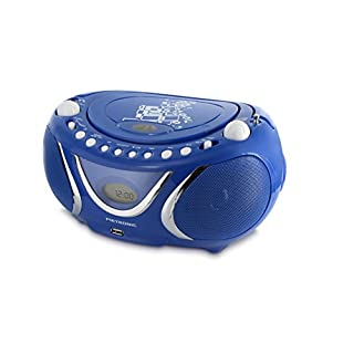 Metronic 477132 Radio CD- MP3 Boombox Square Blau