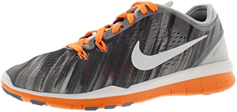 Nike - Wmns Free 50 TR Fit 5 PRT - 704695801 - El Color Blanco-Negro-Naranja - Talla: 37.5