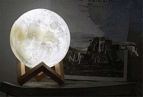 SUGER-LIGHT Schreibtisch Lampe Mond Licht Globus Vibration Schalter Weihnachten Geschenk Zuhause Zimmer Schlafzimmer Dekoration Einzigartig Geburtstag Geschenk Drei Farben Veränderung