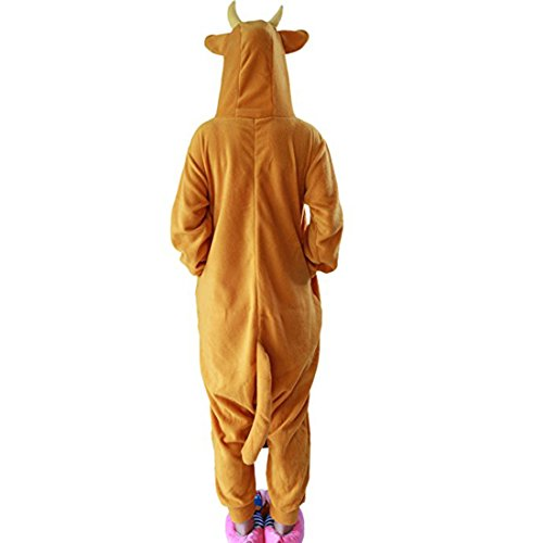 Casa Adulto Unisex Kigurumi Pigiama Anime Onesie Cosplay Halloween Costume Cartone Animale Pigiama S-XL Toro