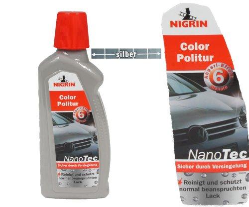 Nigrin NanoTec Color Auto Politur 3in1 Politur,Versiegelung,Glanz (Silber)