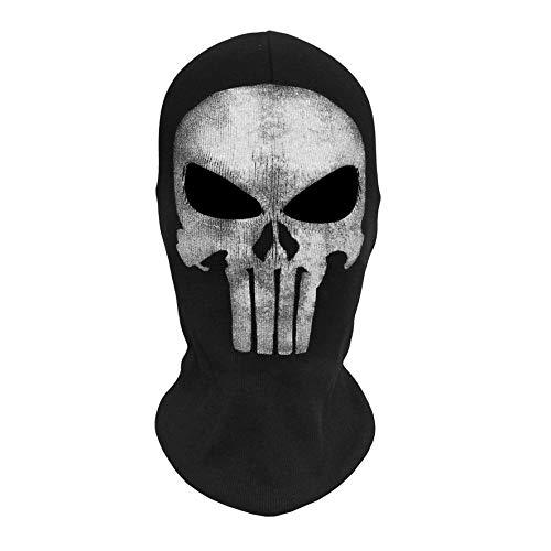 8Eninine Totenkopf Geist Masken Halloween Punisher Deathstroke Reaper Vollgesichtsmaske