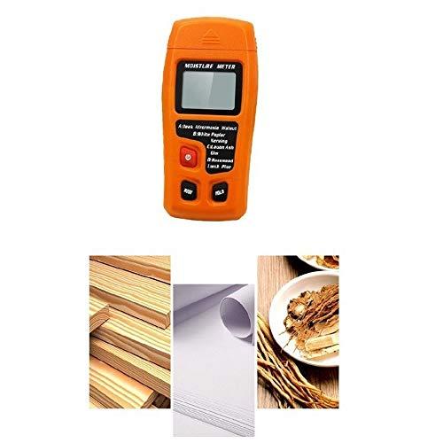 L.Z.HHZL Detector de Humedad 0-99.9% Digital portátil de Madera Medidor de Humedad probador de la Humedad...