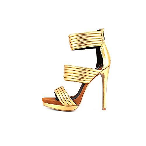 Mia Limited Edition Kiara Cuir Sandales Gold-Gold