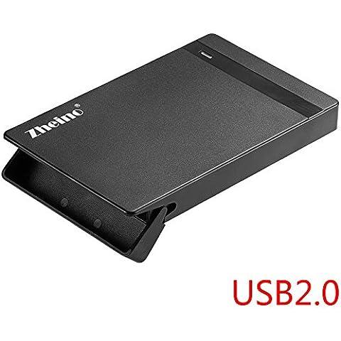 Zheino 2,5 pulgadas Unidad de disco duro HDD Case incluido Externo USB 2.0 con cable usb 3.0 9.5mm 7mm 2.5