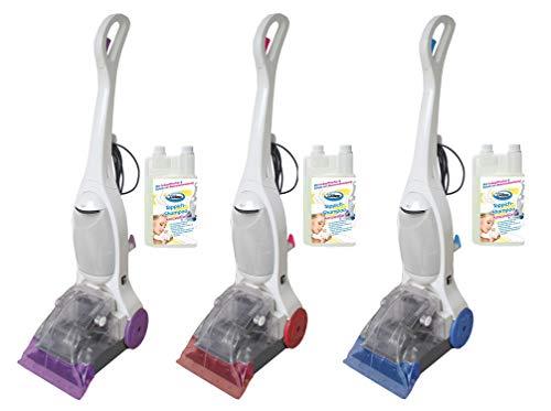 Aqua Laser ® Leistungsstarke Teppichreinigungsmaschine für die professionelle Reinigung von Teppichböden incl. Teppichshampoo (blau)