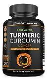 Advanced Organic Turmeric Curcumin & Ginger Capsules 1380mg - High Strength with Organic