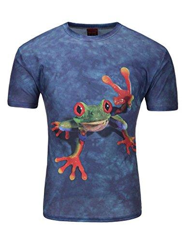 Legou Herren T-Shirt 6 Größe 12 Farbe Rundhals Basic Shirt Blau1