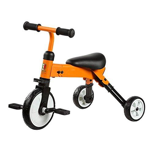 Bicicleta plegable de la vespa del niño del triciclo de los niños que dobla GAOLILI Color : Naranja...