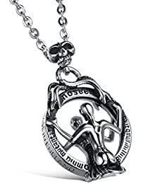 Fiery In Your Mirror 100% Stainless Steel Bikers Pendant For Boys And Men By Yellow Chimes
