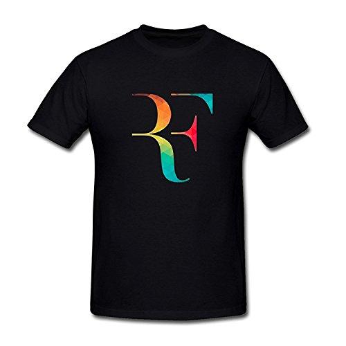SEagleo2 Men's Roger Federer RF Logo T-Shirt Sizes S-3XL Large