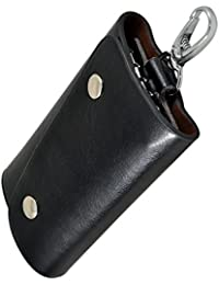 Instabuyz Black Key Pouch/Wallet Key Chain Stylish/Black Wallet Key Chain/Black Key Pouch/Leather Wallet Key-chain