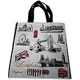 My London Souvenirs - Bolsa de mano con diseño de monumentos icónicos de LondresBolso para compras