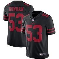 HFJLL NFL Football Jersey San Francisco 49ers 53# Camiseta,Black,S
