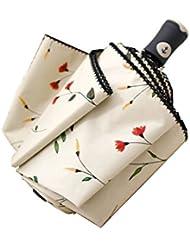 Cuby Regenschirm, taschenschirm auf zu automatik, sturmsicher wasserabweisende, Mini, Leicht & Kompakt