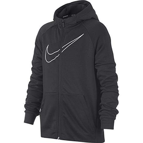 Nike Jungen B NK Dry Hoodie FZ EMB Leg Jacket,Grau (Anthracite/White), Small -