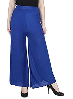 "Tara Lifestyle Stretchable Designer Plain Casual Wear Palazzo Pant for Women's - Free Size (Waist:26"" to 34"")"