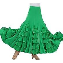 Mujer Gasa Largo Falda de Gypsy Tribal Danza del Vientre Elástica Profesional Oriental árabe