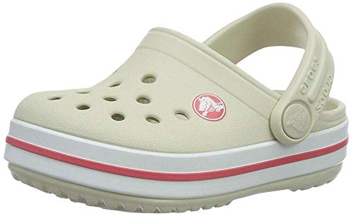 crocs Crocband Clog Kids, Unisex-Kinder Clogs, Beige (Stucco/Melon), 19/20 -