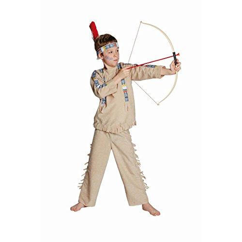 Indianer Kostüm Kinder Indianerkostüm 128 cm 6-7 Jahre Häuptling Kinderkostüm Indianerhäuptling Westernkostüm Apache Cowboykostüm Wilder Westen Faschingskostüm Karnevalskostüme (Kind Häuptling Indianer Kostüm)